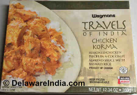 Wegmans Chicken Korma Box